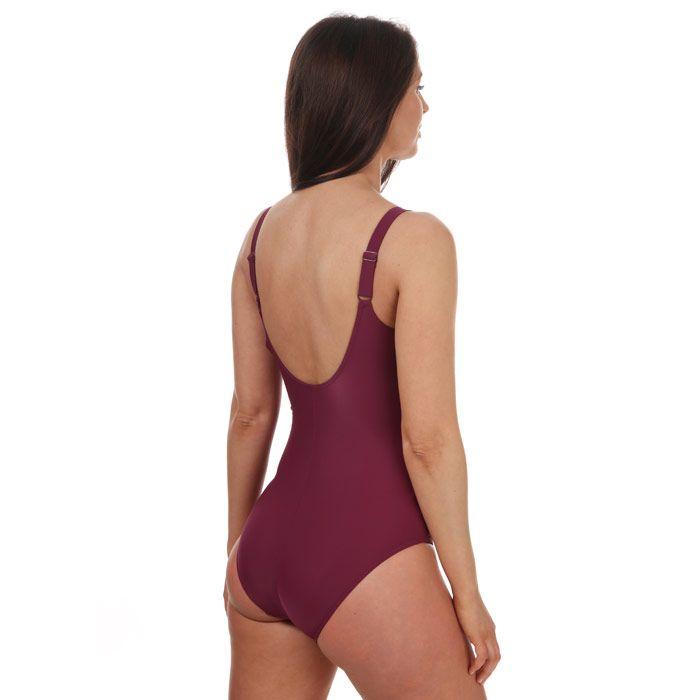 Women's Speedo Brigitte Swimsuit Purple 10in Purple