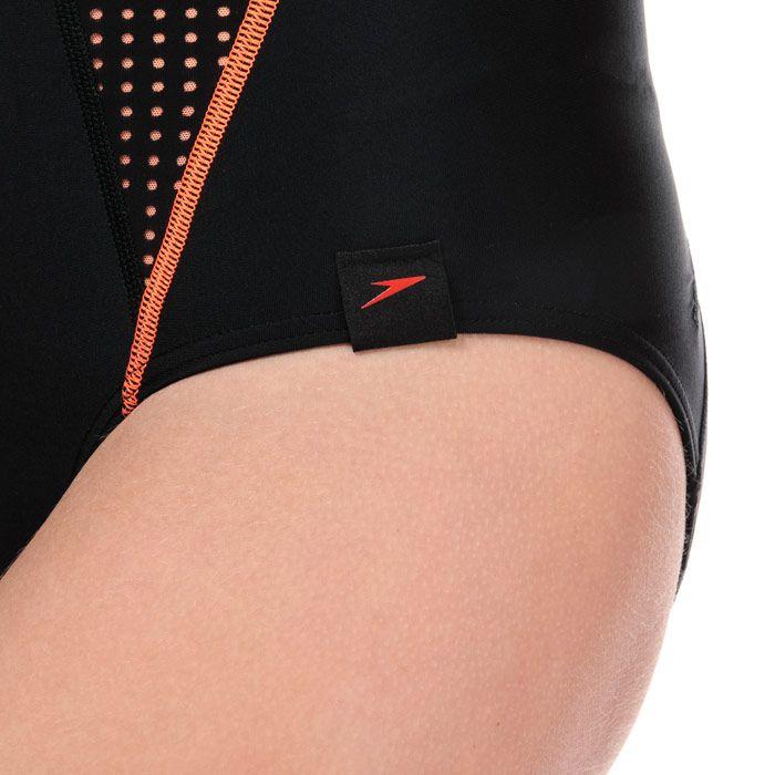 Women's Speedo Fit Powermesh Pro Swimsuit in Black