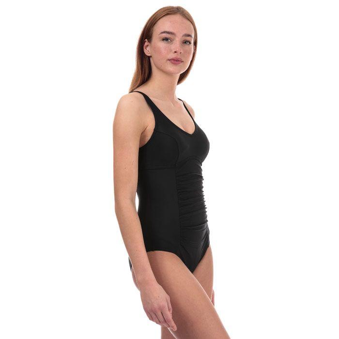 Women's Speedo Vivienne Clipback Swimsuit in Black