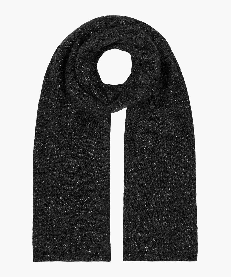 Bix mohair and wool blend scarf
