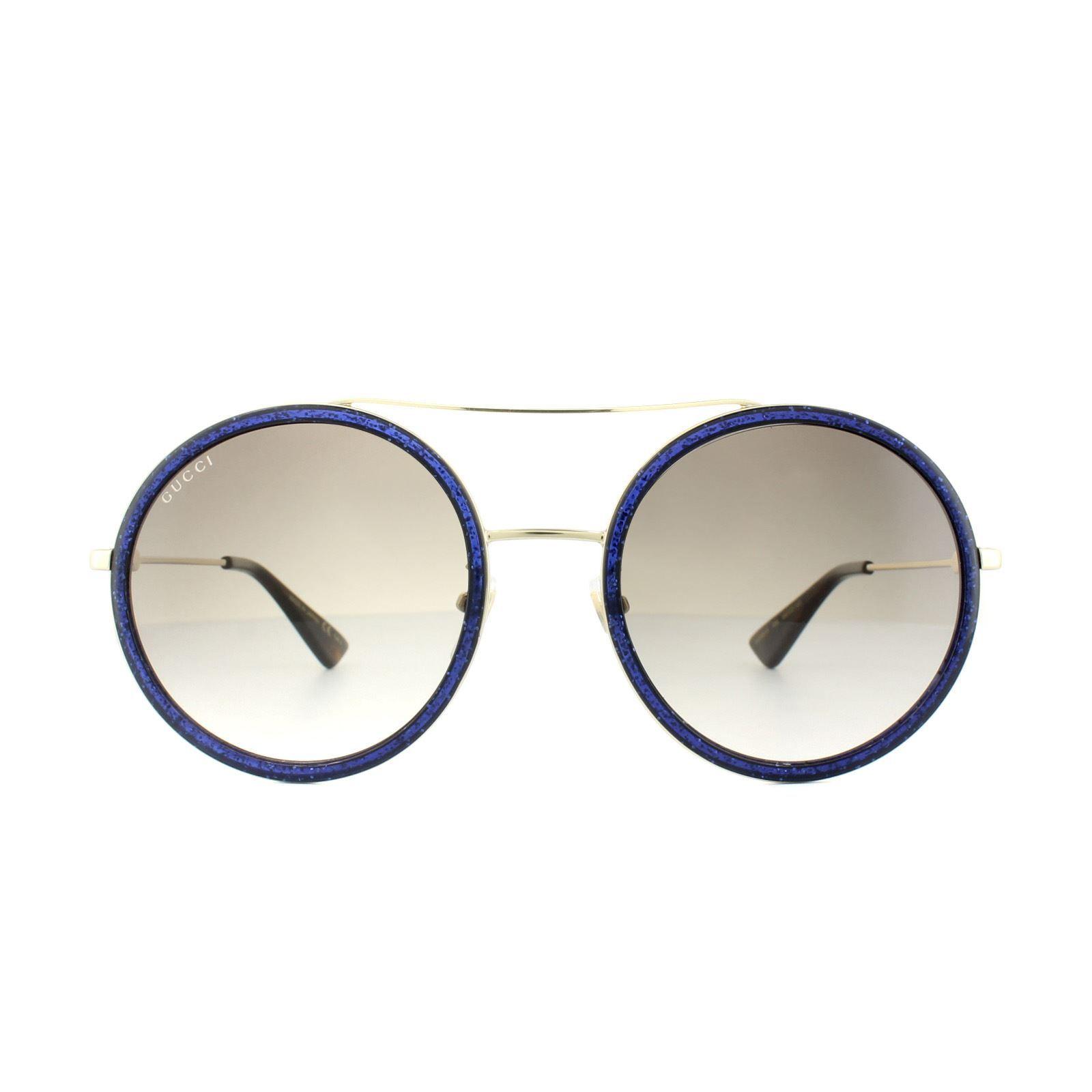 Gucci Sunglasses GG0061S 005 Glitter Blue Brown Gradient