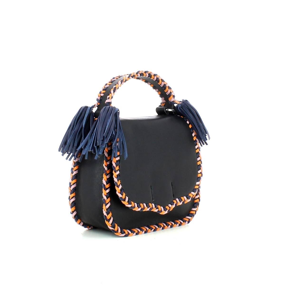 Rebecca Minkoff, Chase Medium Saddle Bag BLACK MULTI