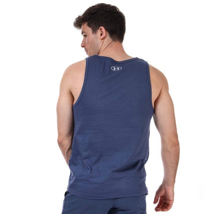 Men's Under Armour Sportsstyle Logo Vest in Blue