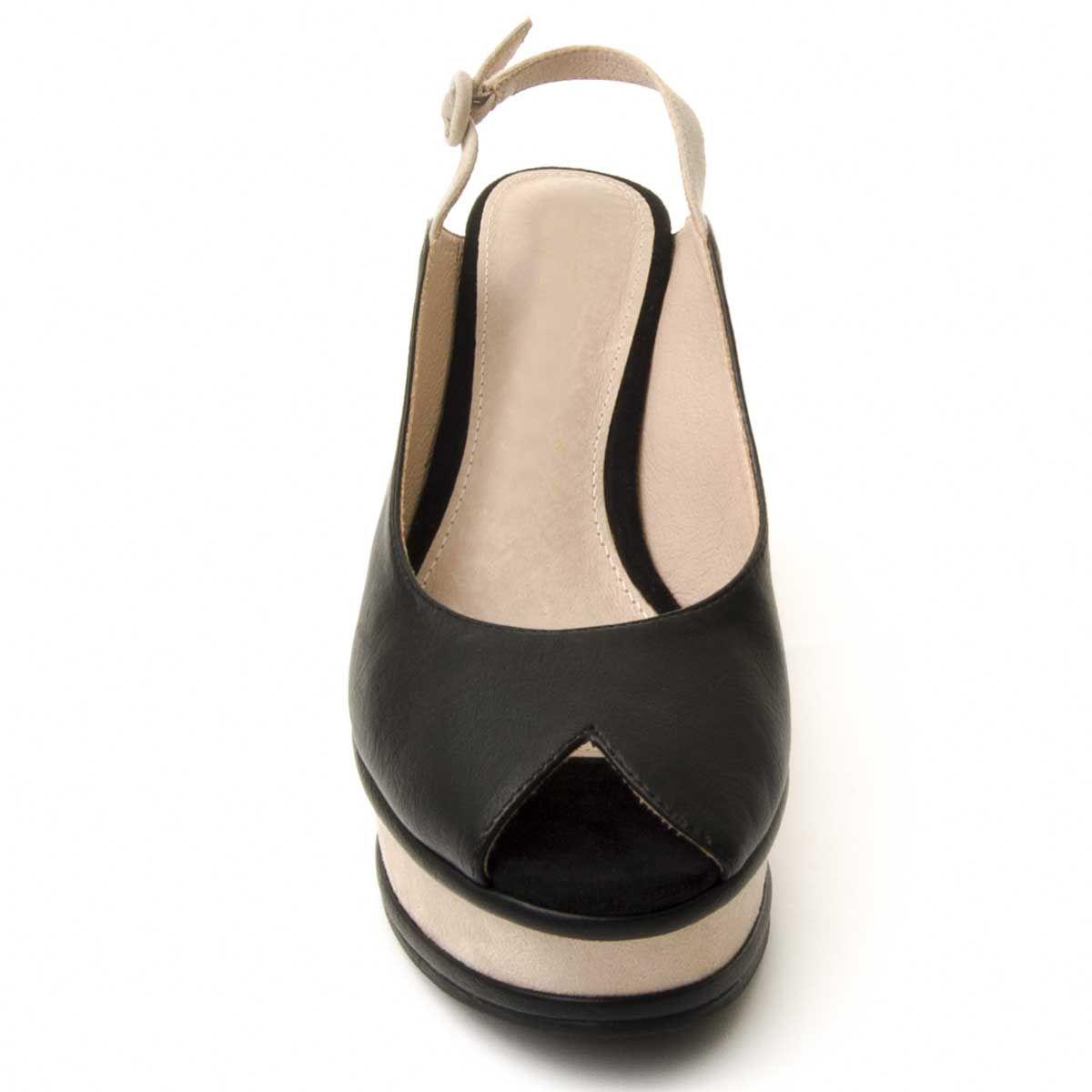 Montevita Chunky Heel Sandal in Black