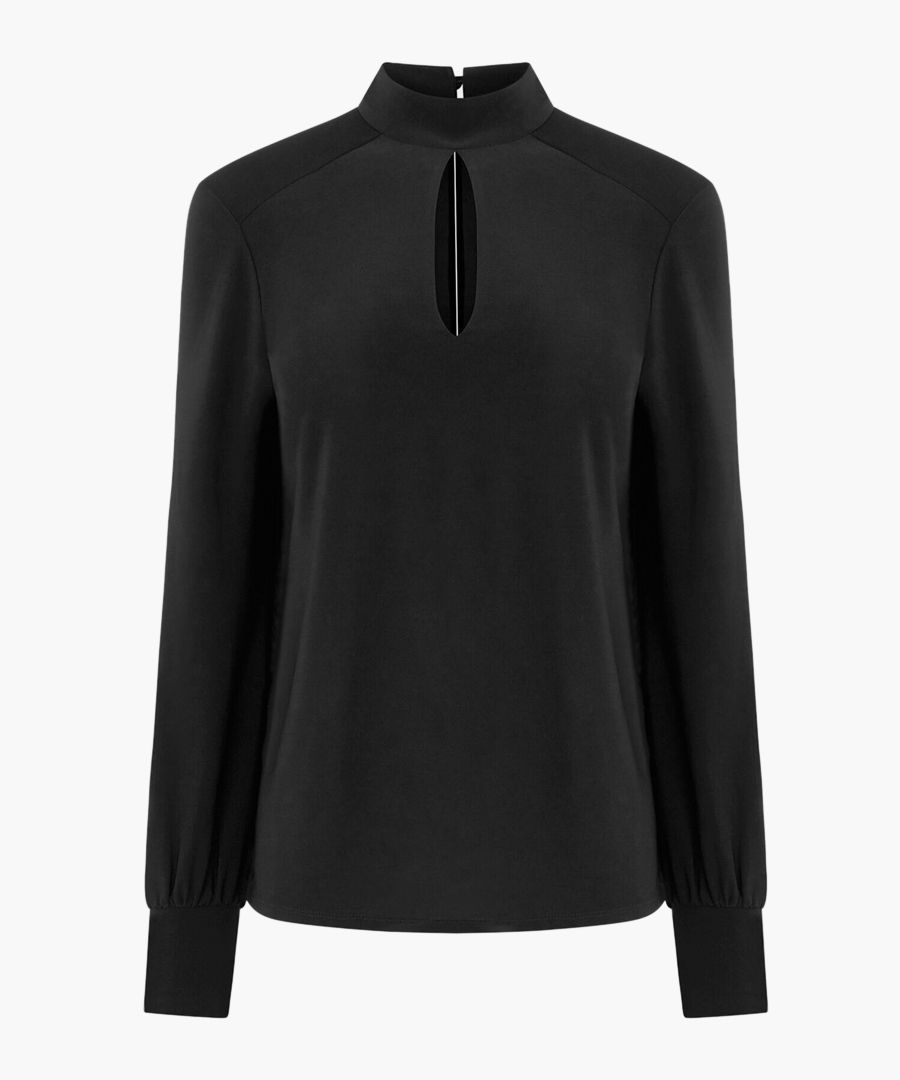 Black slinky cut-out top