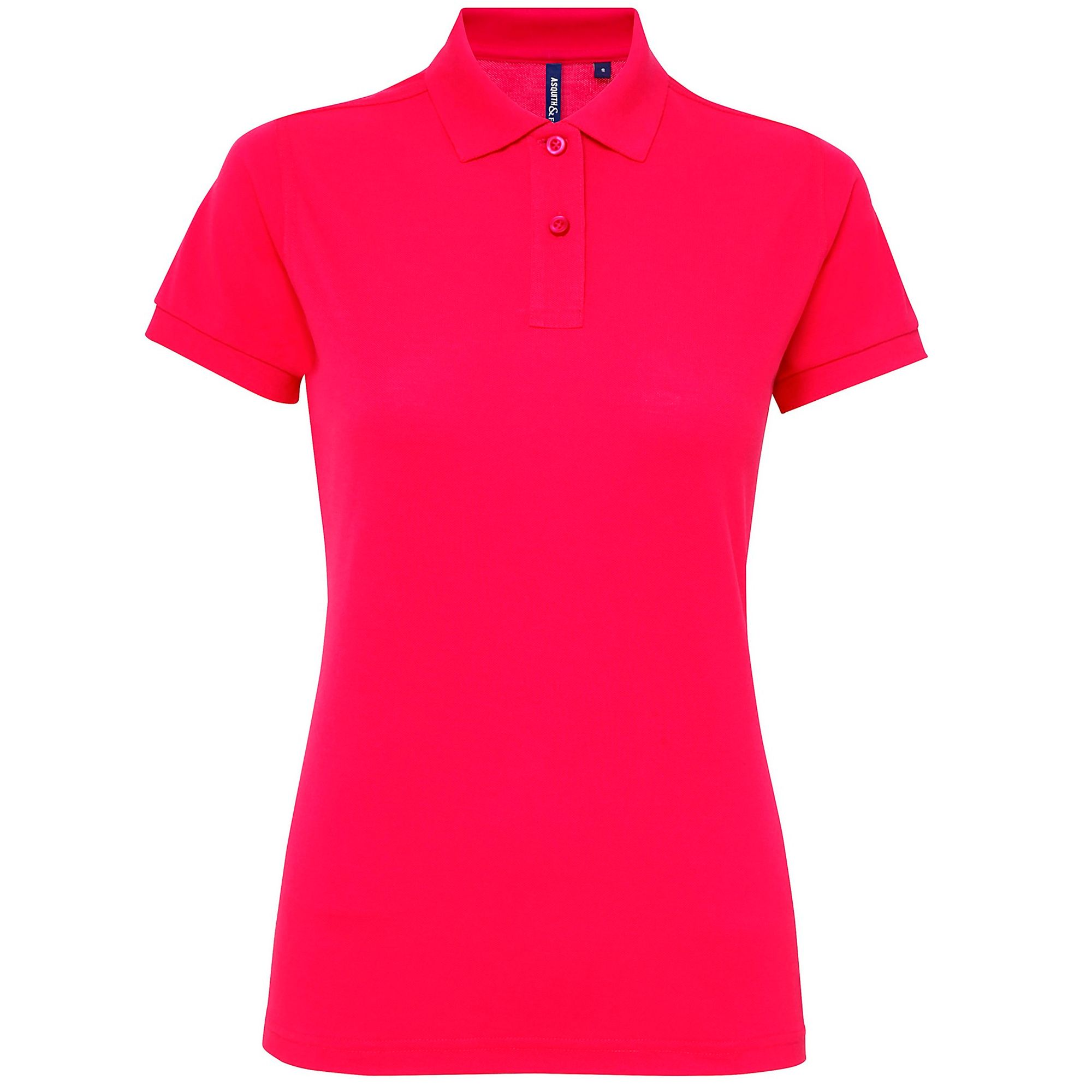 Asquith & Fox Womens/Ladies Short Sleeve Performance Blend Polo Shirt (Hot Pink)