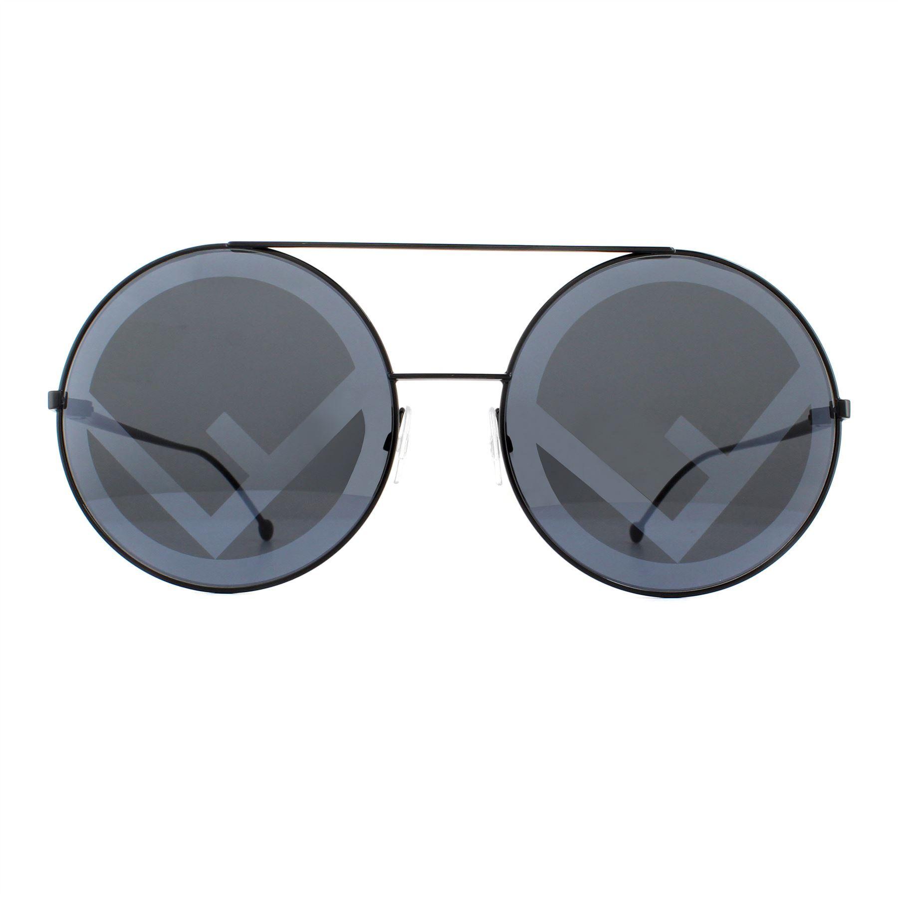 Fendi Sunglasses 0285/S 807 MD Black Grey with Fendi Statement