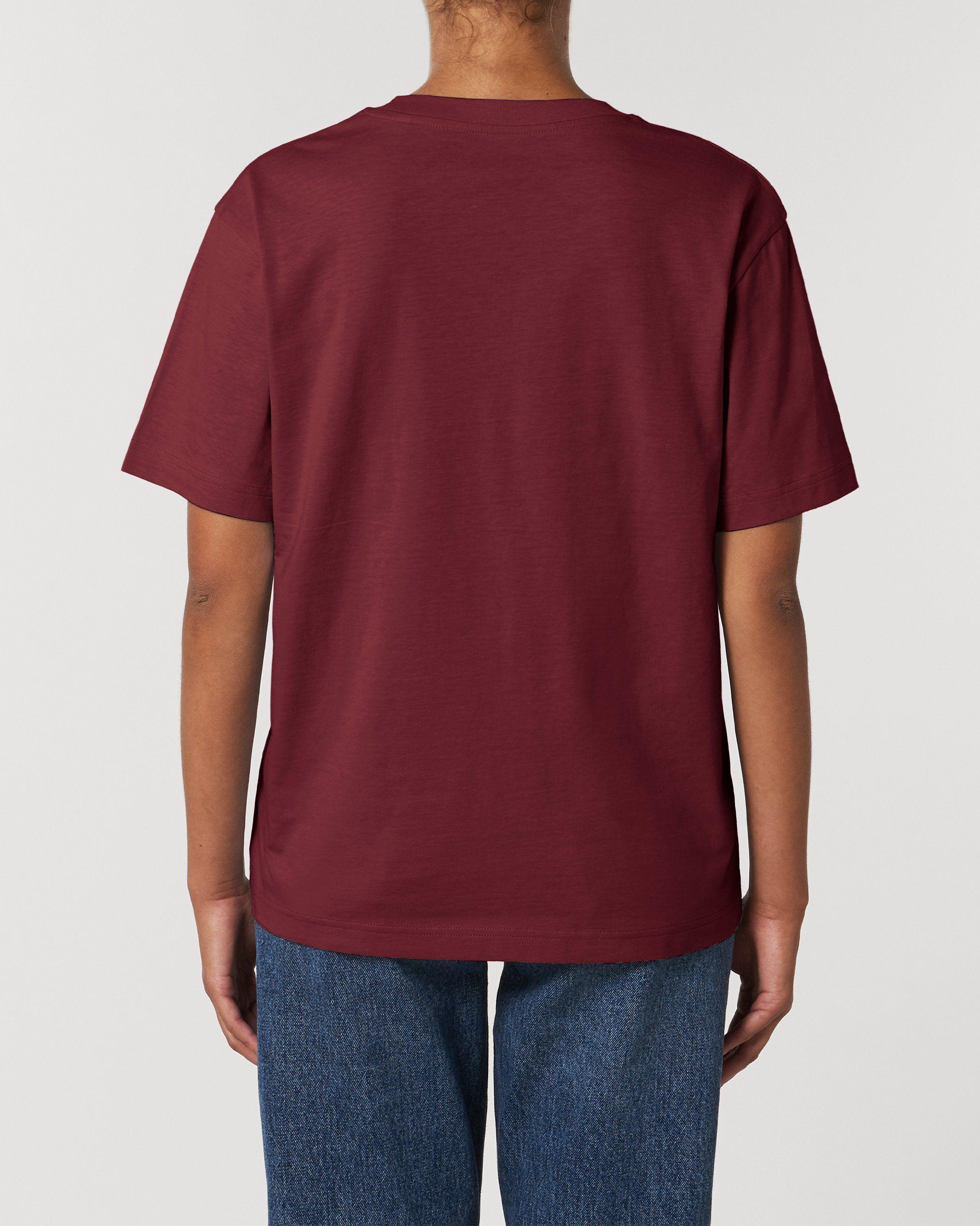 Antaratma Unisex Relaxed T-Shirt in Burgundy