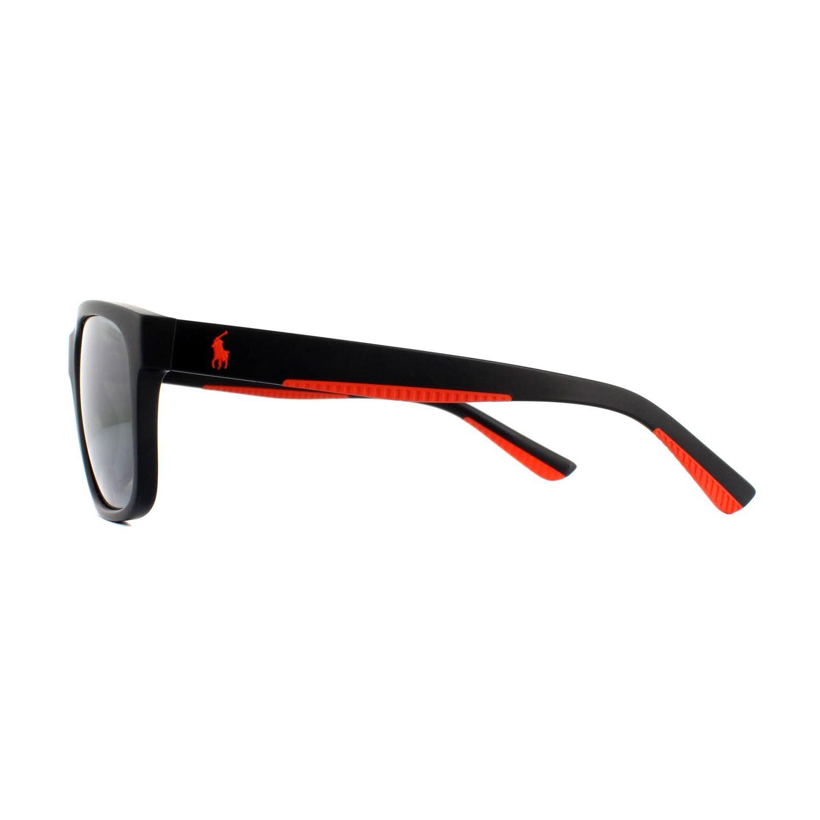 Polo Ralph Lauren Sunglasses PH4142 57326G Matte Black Silver Mirror