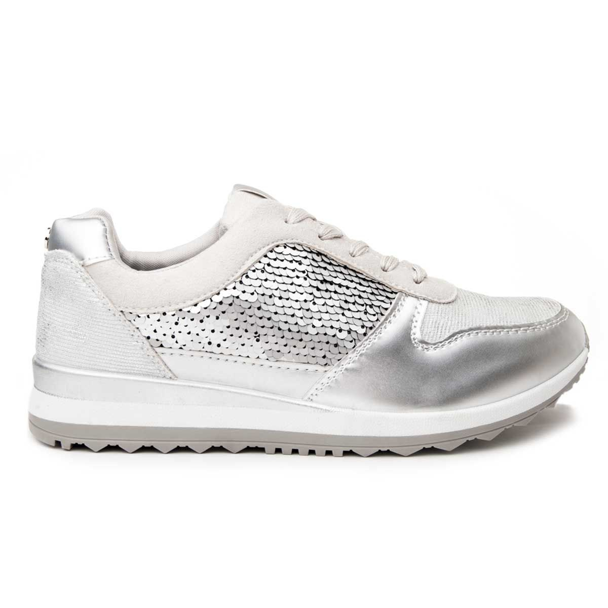 Montevita Comfortable Sneaker in Silver