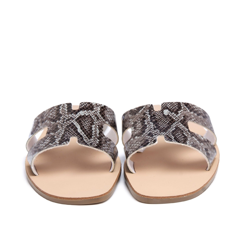 Flat Leather Sandal for Women Eva Lopez