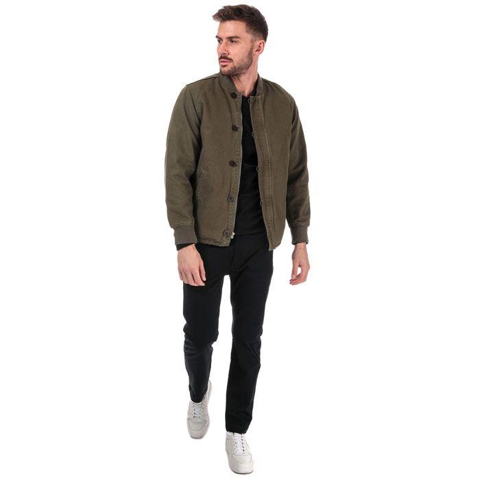Men's Levis Deck Bomber Jacket in olive