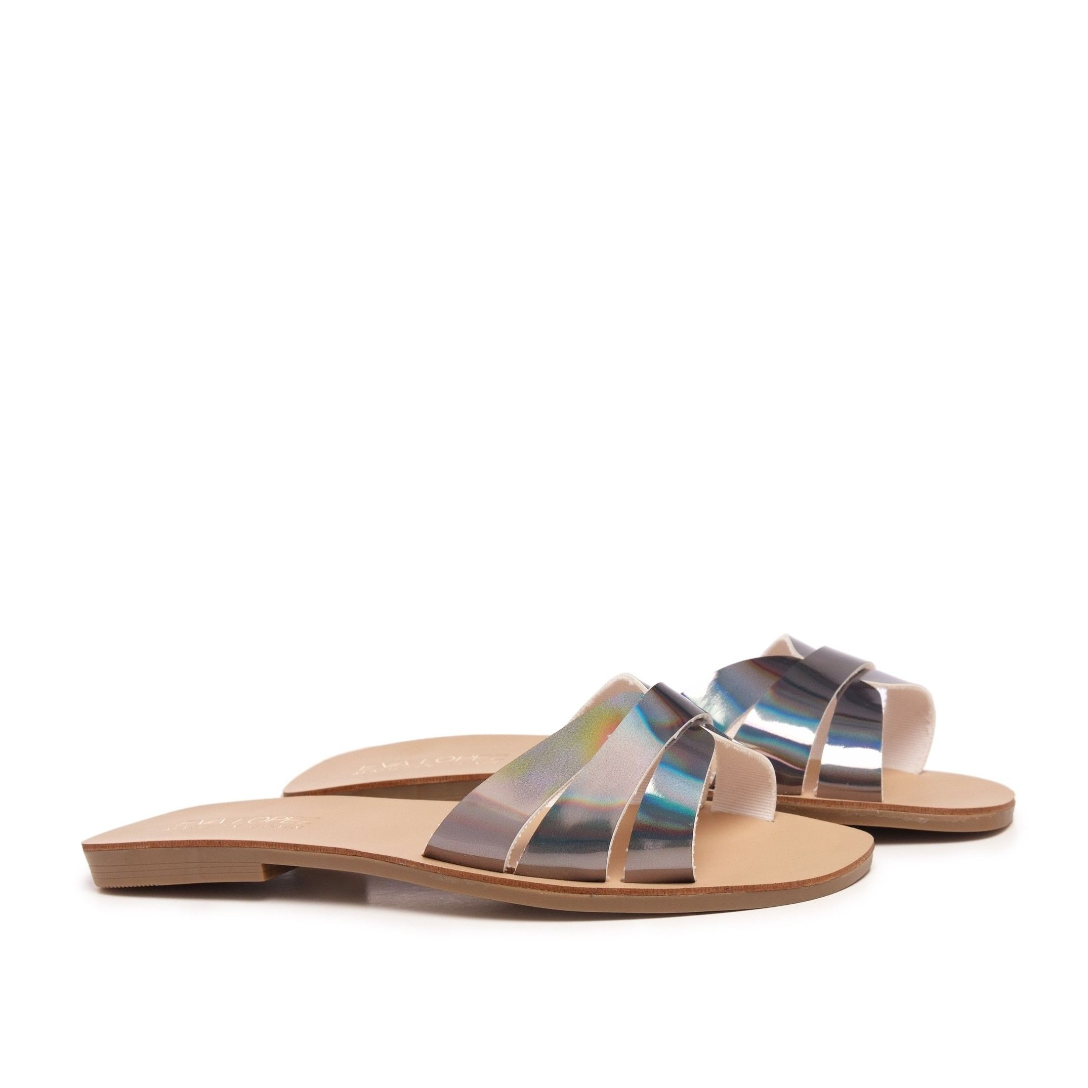 Flat Leather Sandal for Women Eva Lopez