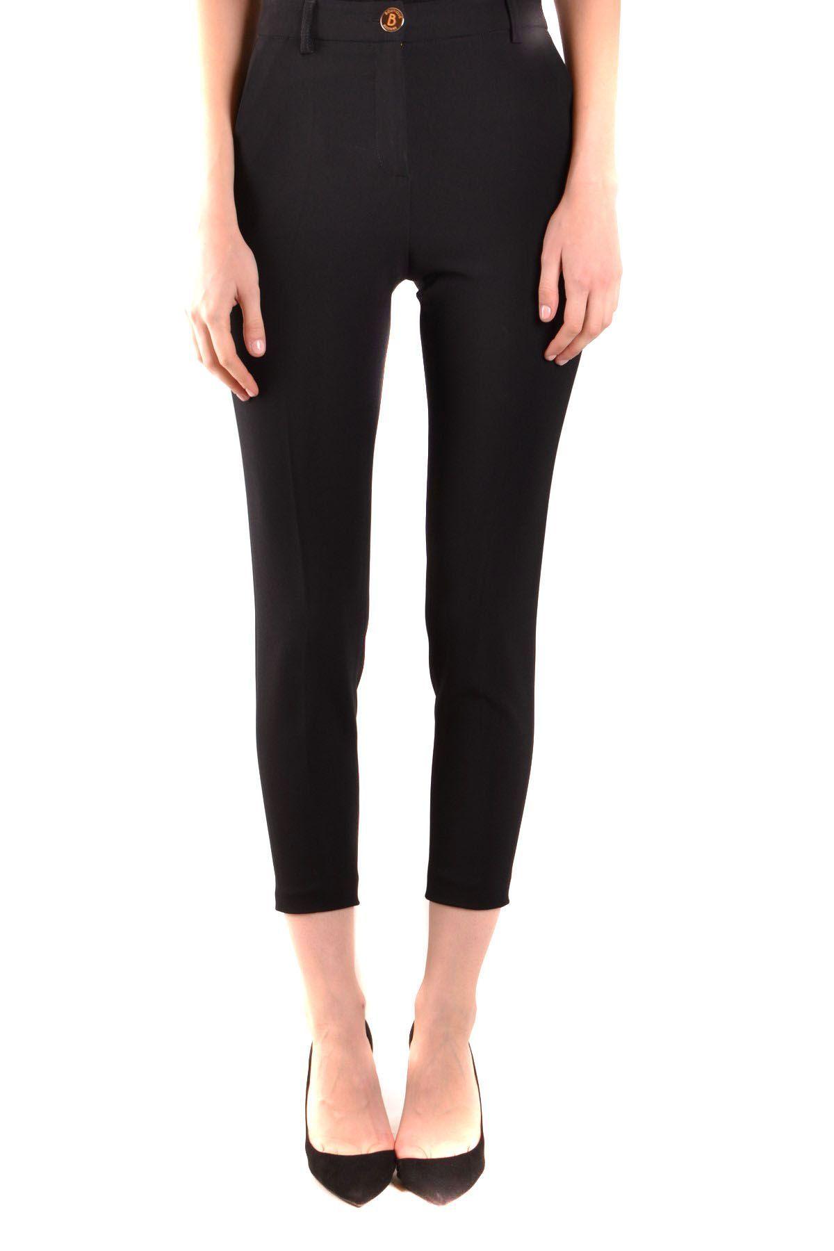 BOUTIQUE MOSCHINO WOMEN'S A03111124555 BLACK SILK PANTS
