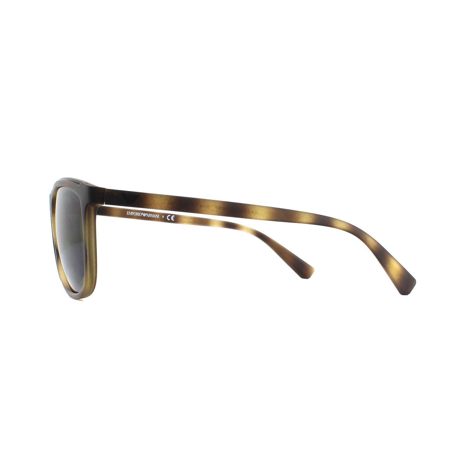 Emporio Armani Sunglasses EA4109 508987 Matte Havana  Grey