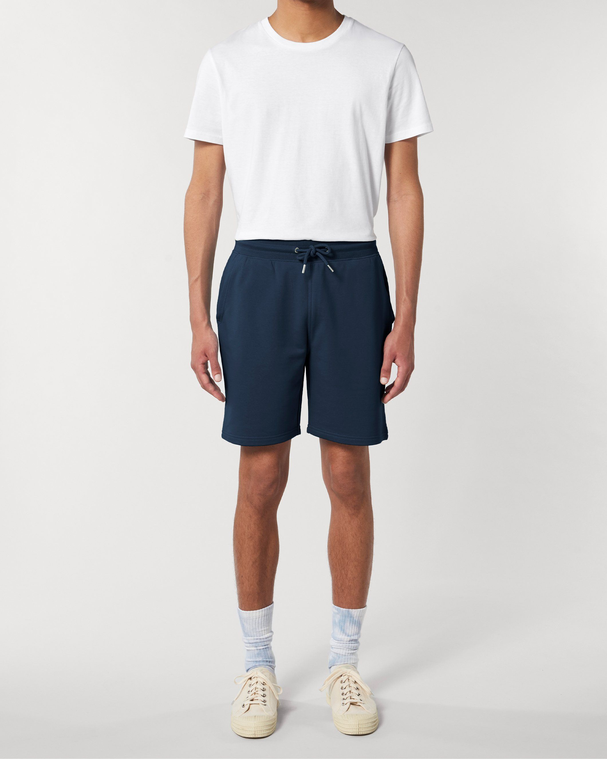 Vayu Unisex Jogger Shorts in Navy
