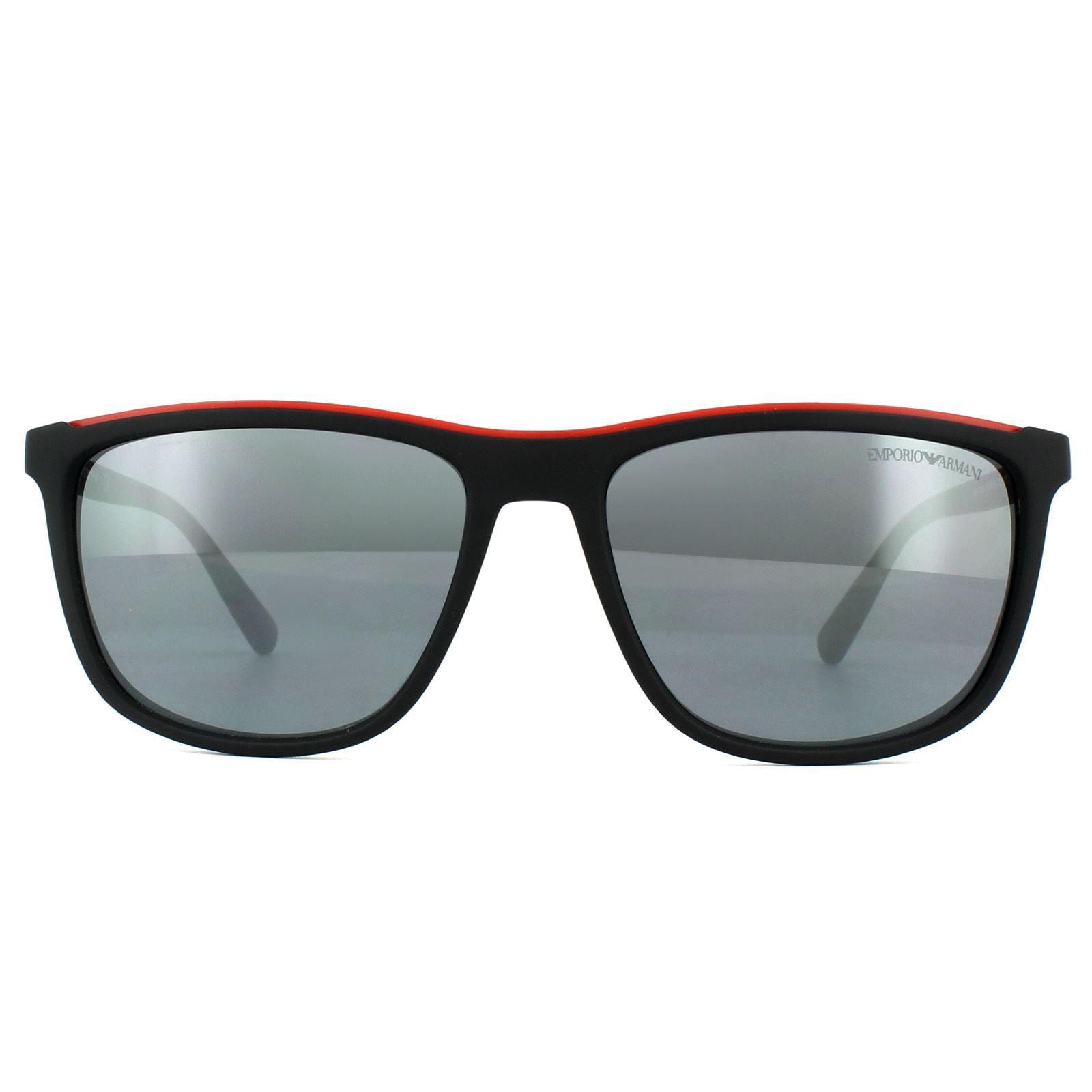 Emporio Armani Sunglasses EA4109 50426G Matt Black Light Grey Mirror Black