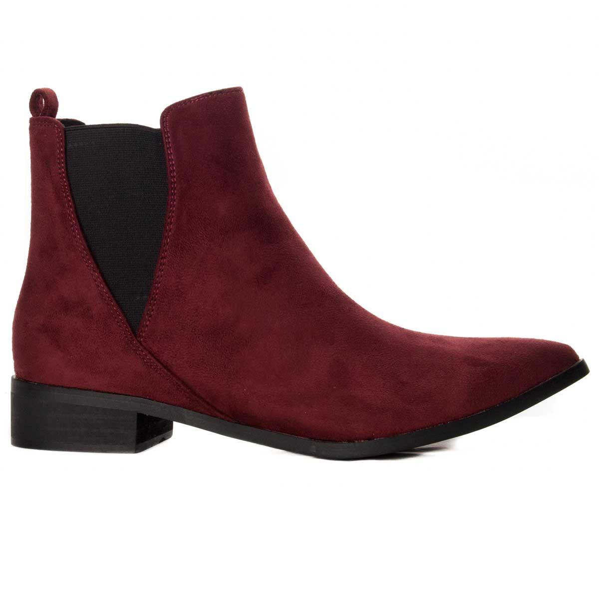 Montevita Pointed Ankle Boot in Bordo