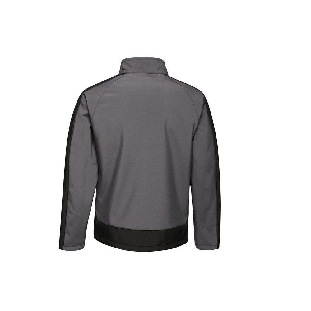Regatta  Mens Contrast Three Layer Printable Soft Shell Jacket (Seal Grey/Black)