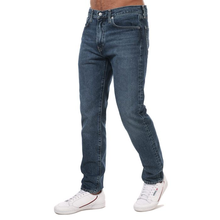 Men's Levi's Wellthread 502 Taper Jeans Dark Blue 29Rin Dark Blue