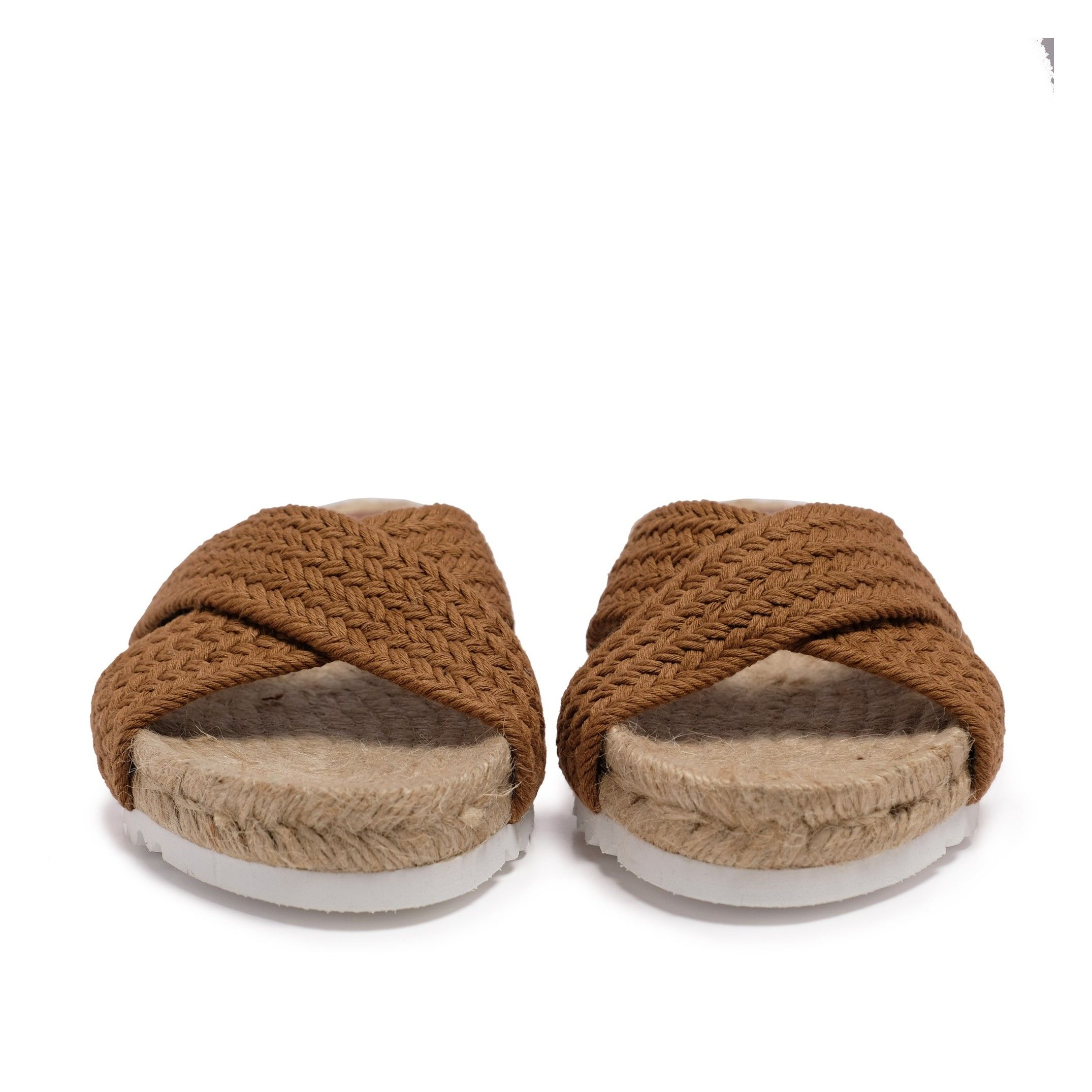 Flat Yute Sandal for Women Brown Shoes Eva Lopez