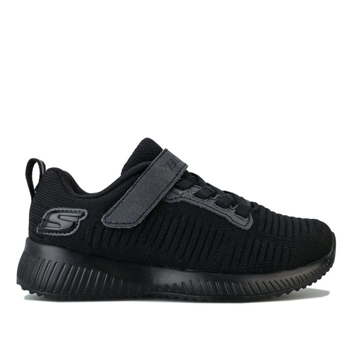 Girls' Skechers Children Squad Charm League Trainers In Black