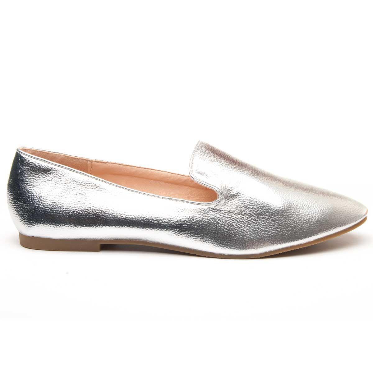 Montevita Ballet Flat in Silver