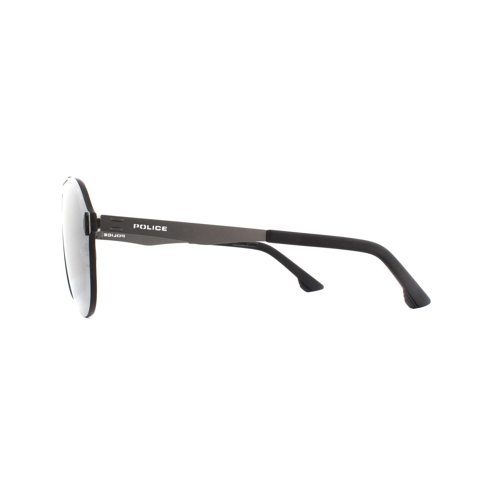 Police Sunglasses SPL339 Flow 1 0627 Matte Ruthenium Smoke Grey