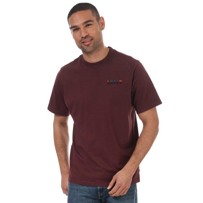 Men's Levi's Graphic Mockneck Serif T-Shirt Burgundy Min Burgundy