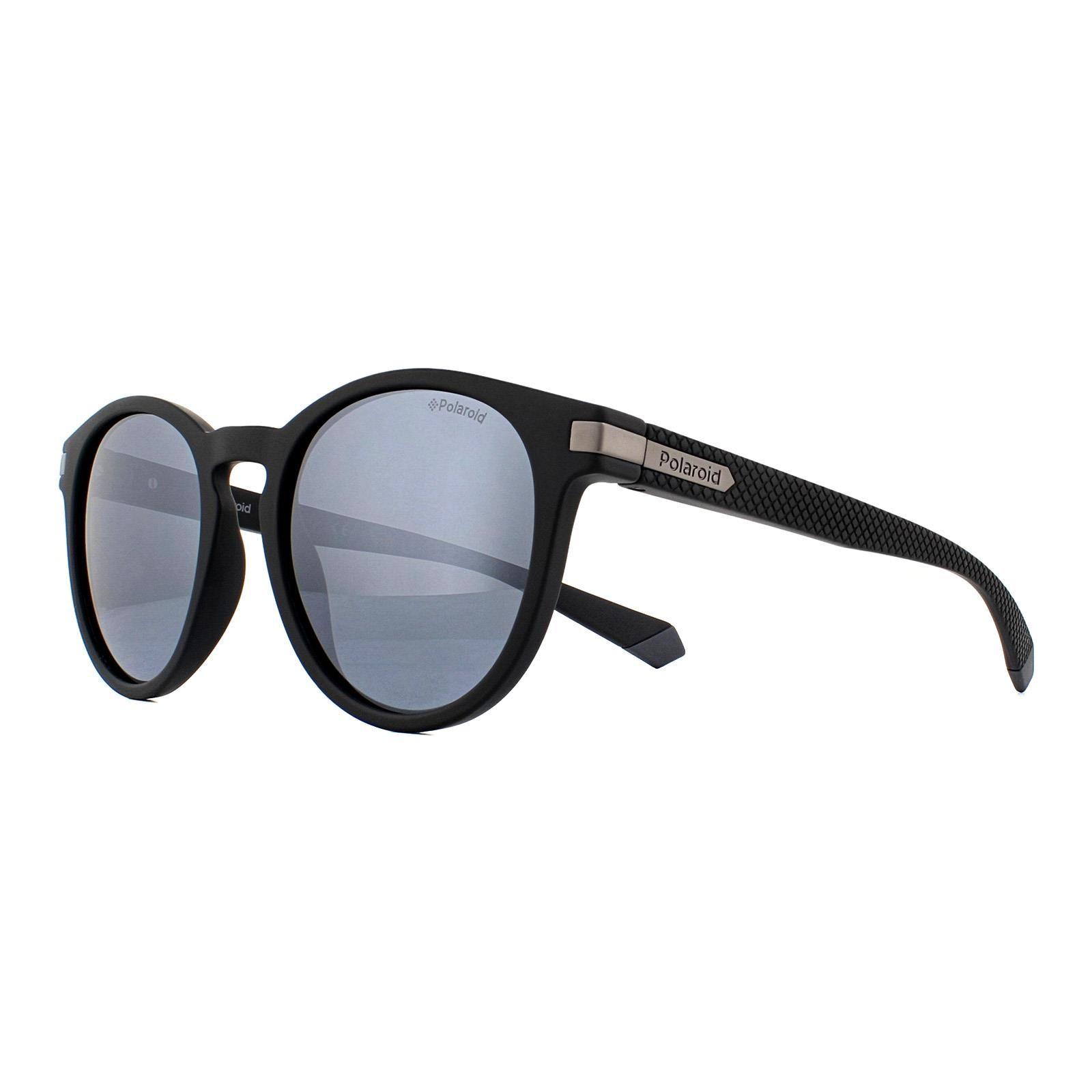 Polaroid Sunglasses PLD 2087/S 003 EX Matte Black Silver Mirror Polarized