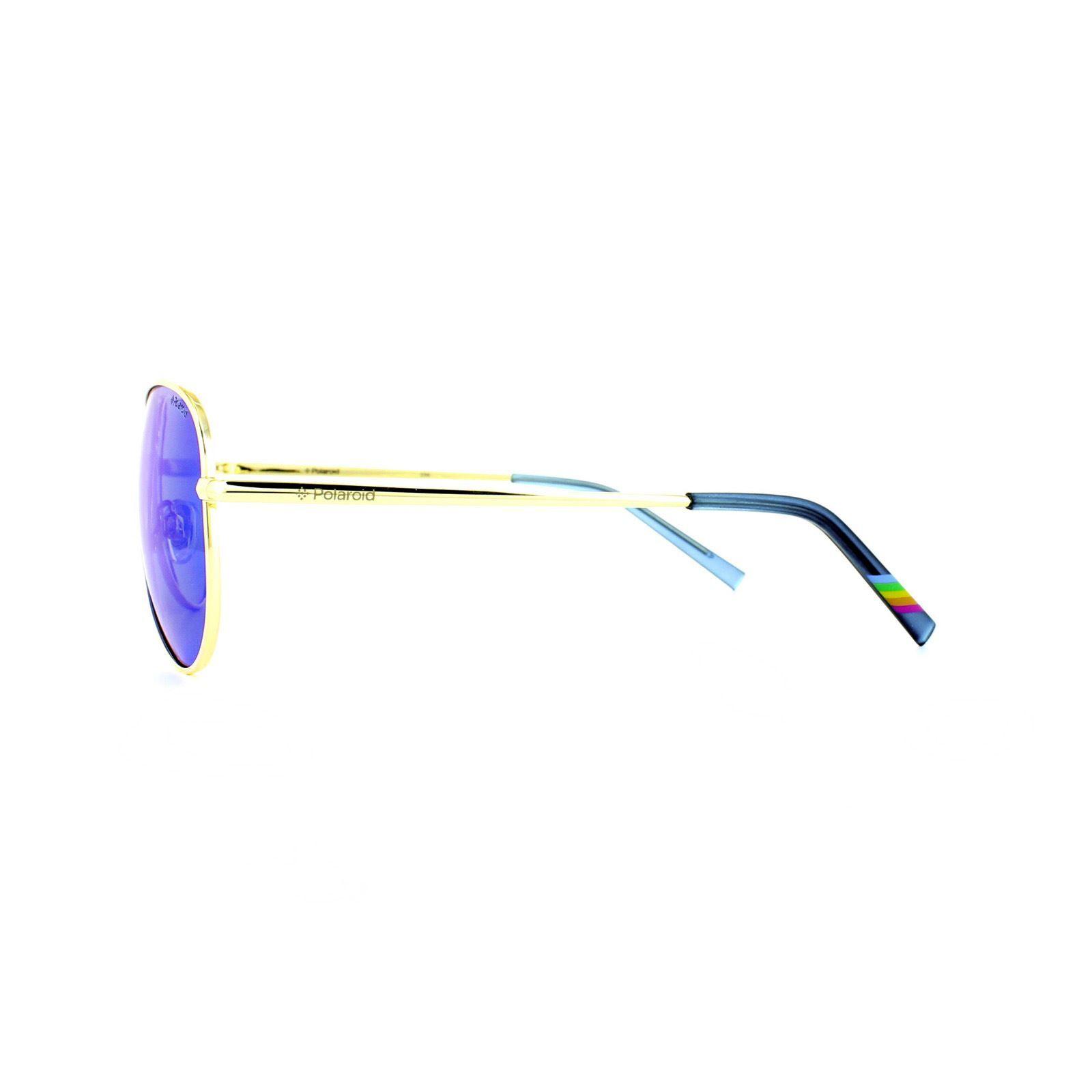 Polaroid Sunglasses 6012/N J5G JY Gold Grey Blue Mirror Polarized