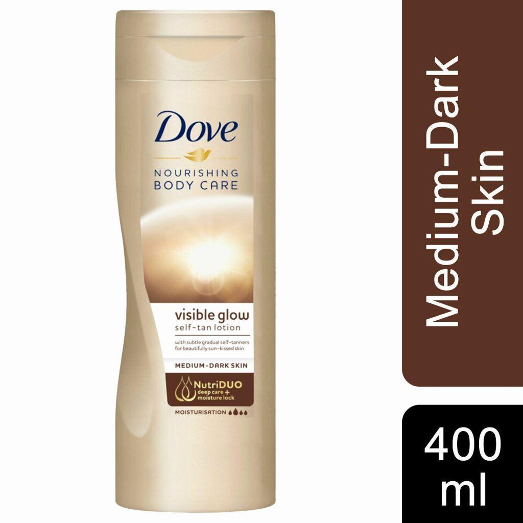 Dove Visible Glow Self Tan Lotion Medium to Dark 6 x 400ml