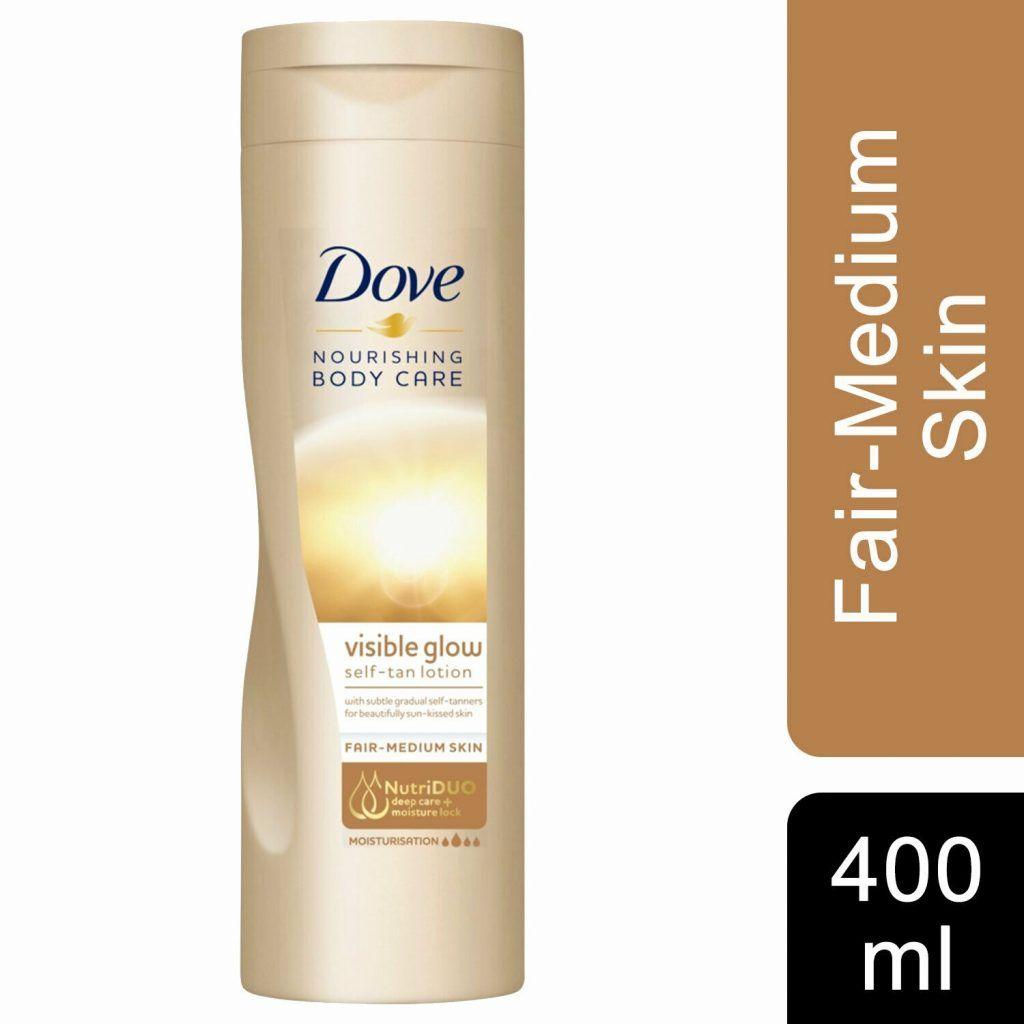 Dove Visible Glow Self Tan Lotion Fair To Medium 6  x 400ml