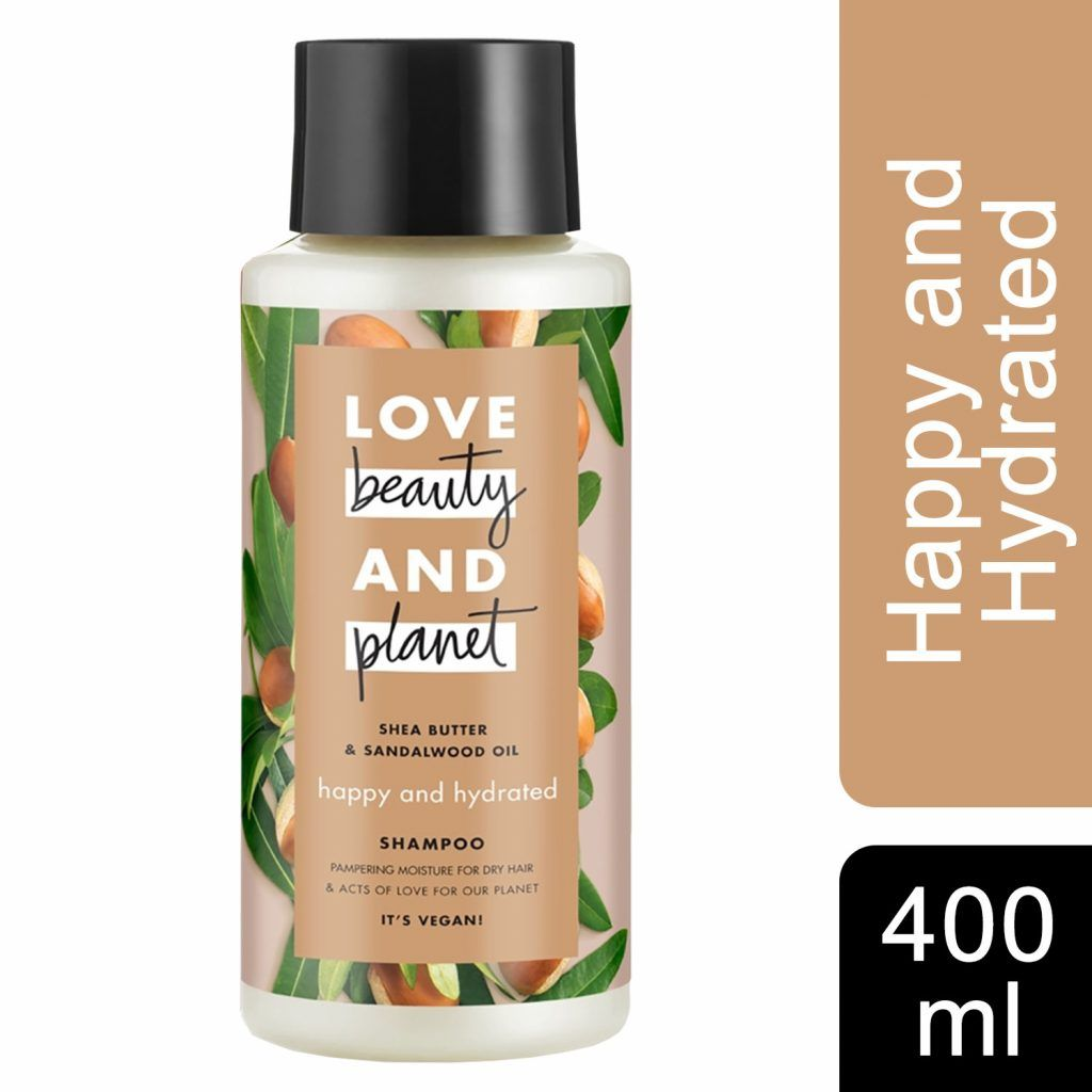 Love Beauty & Planet Happy and Hydrated Shea Butter & Sandalwood Oil Shampoo 3 x 400ml