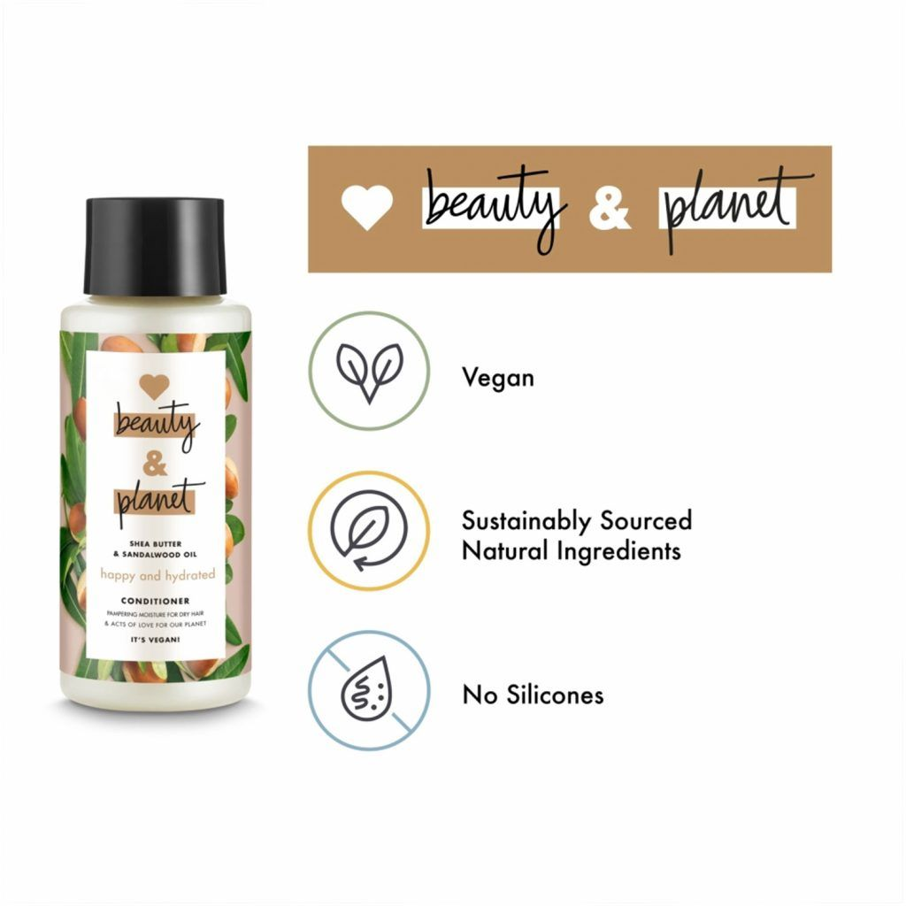Love Beauty & Planet Happy and Hydrated Shea Butter & Sandalwood Oil Conditioner 3 x 400ml
