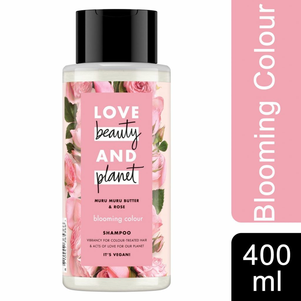 Love Beauty & Planet Blooming Colour Muru Muru Butter & Rose Shampoo 3 x 400ml
