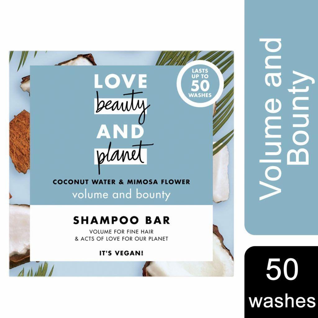 Love Beauty & Planet Volume and Bounty Coconut Water & Mimosa Flower Shampoo Bar 4 x 90g