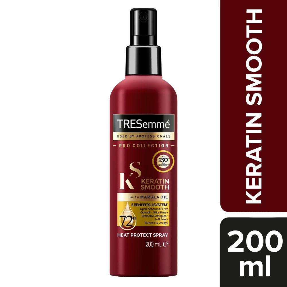 TRESemmé Keratin Smooth Heat Protection Shine Spray, Pack of 3, 200 ml