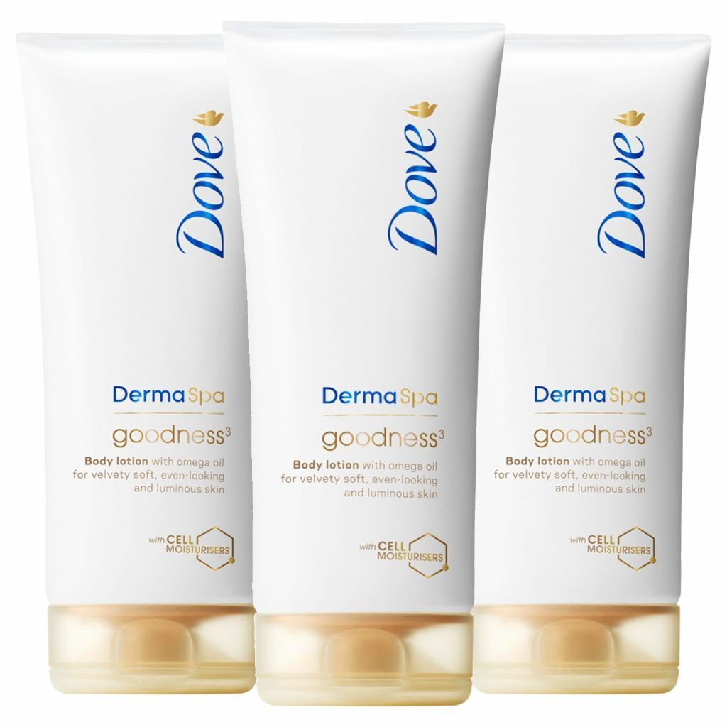 Dove DermaSpa Goodness 3 Body Lotion 3 x 200ml
