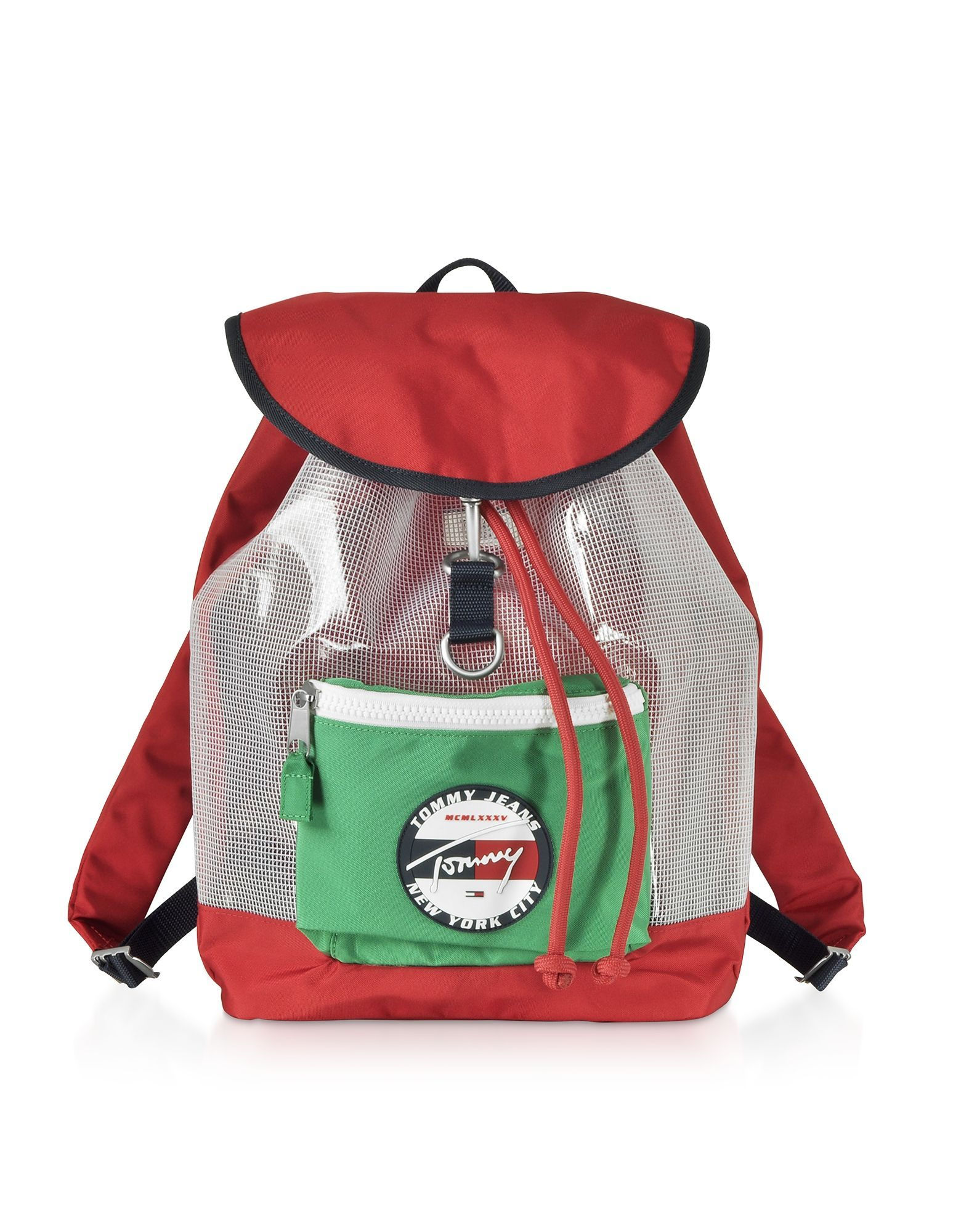 TOMMY HILFIGER MEN'S AU0AU00697903 RED SYNTHETIC FIBERS BACKPACK