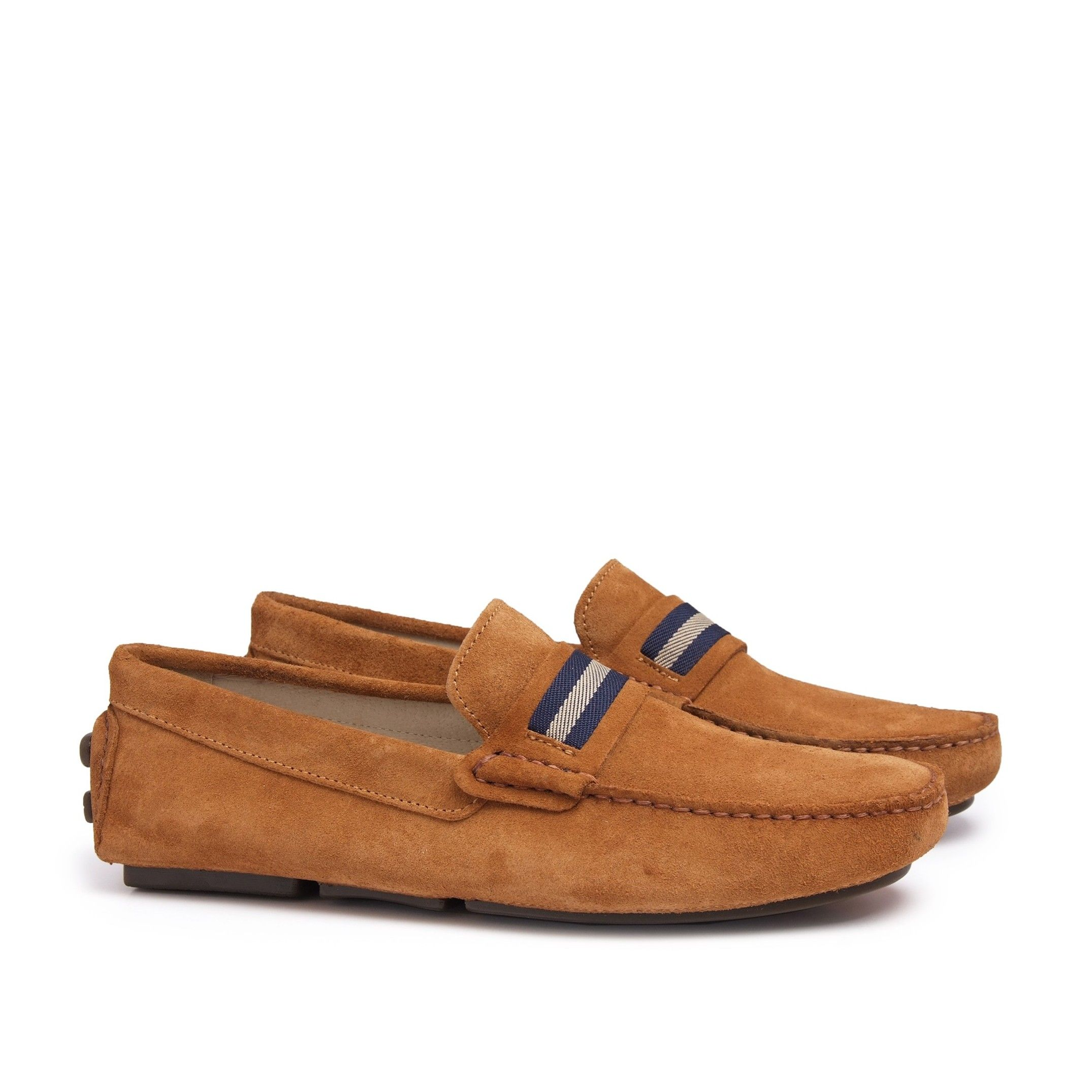 Men's Leather Moccasins Original Shoes in Brown