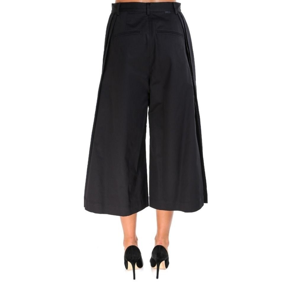 MONCLER WOMEN'S 160020057448999 BLACK COTTON PANTS
