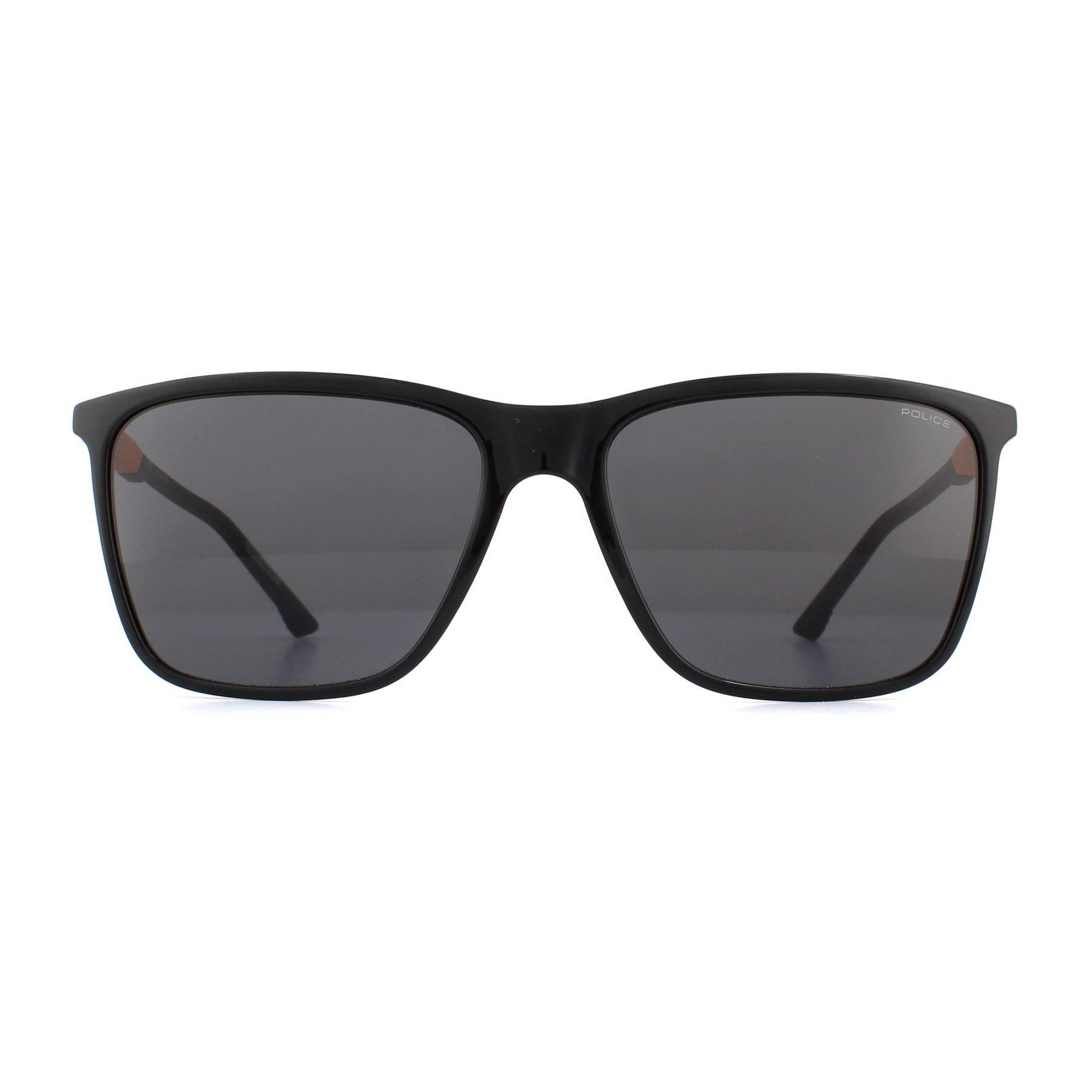 Police Sunglasses SPL716 Storm Light 1 0Z42 Shiny Black Smoke