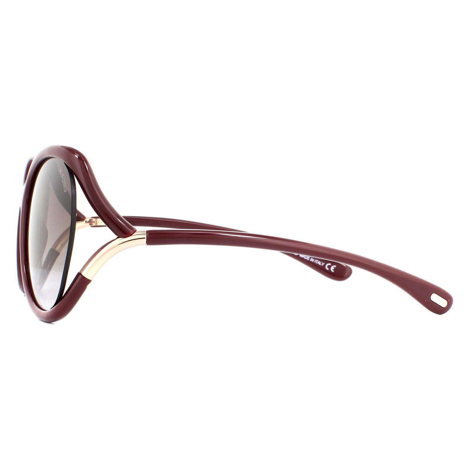 Tom Ford Sunglasses Anouk FT0578 69T Shiny Bordeaux Bordeaux Gradient