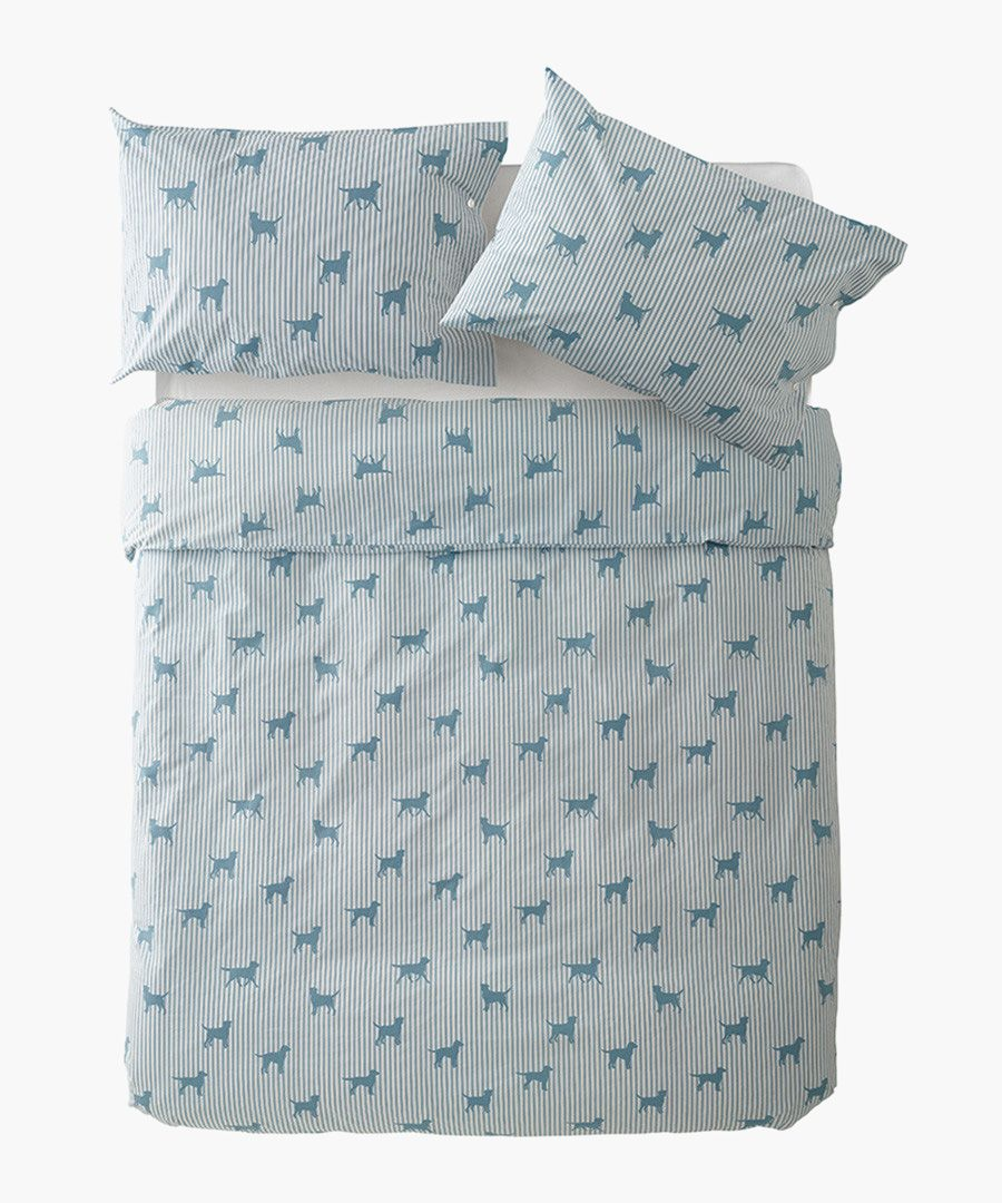 Labrador blue king duvet set