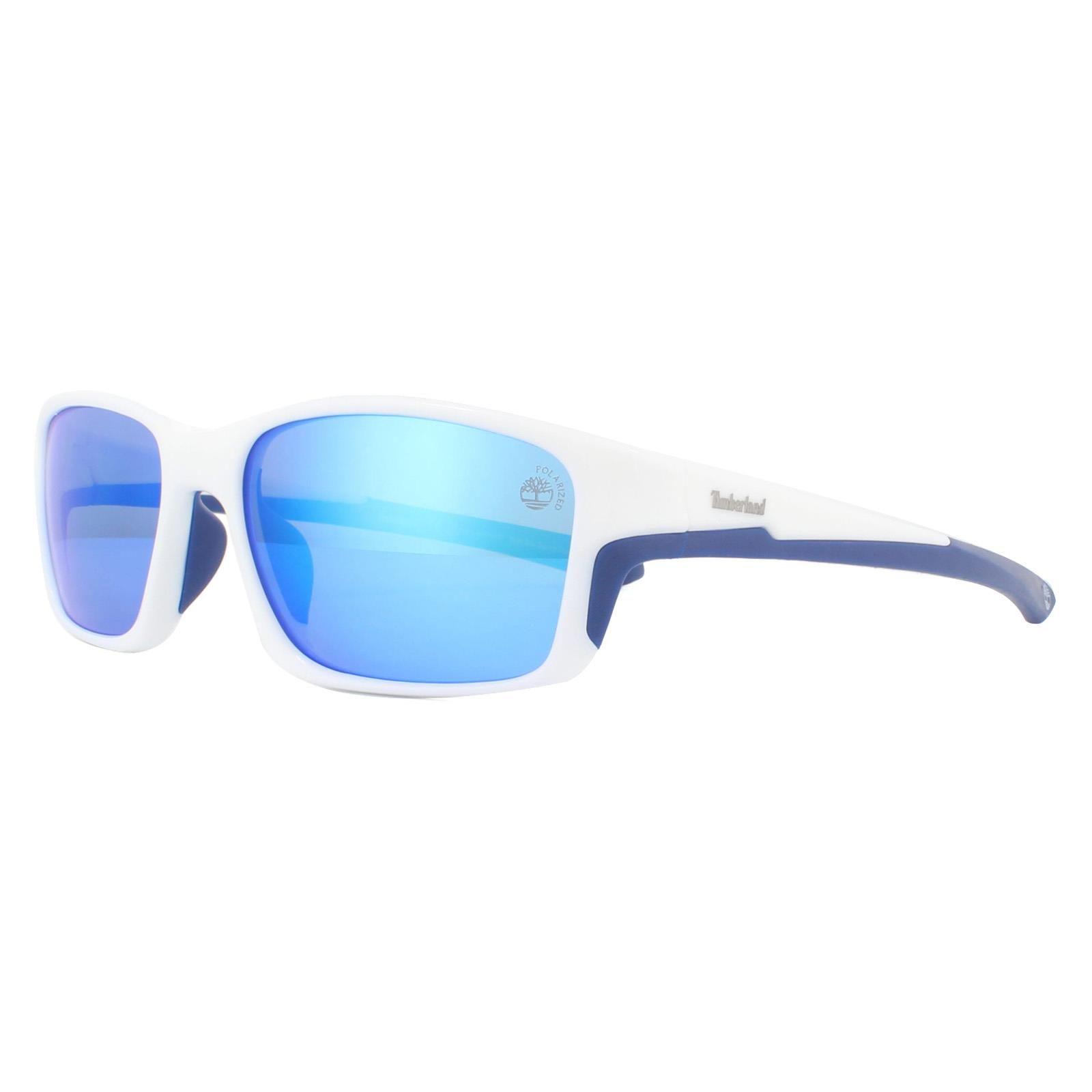 Timberland Sunglasses TB9172 21D White Blue Mirror Polarized