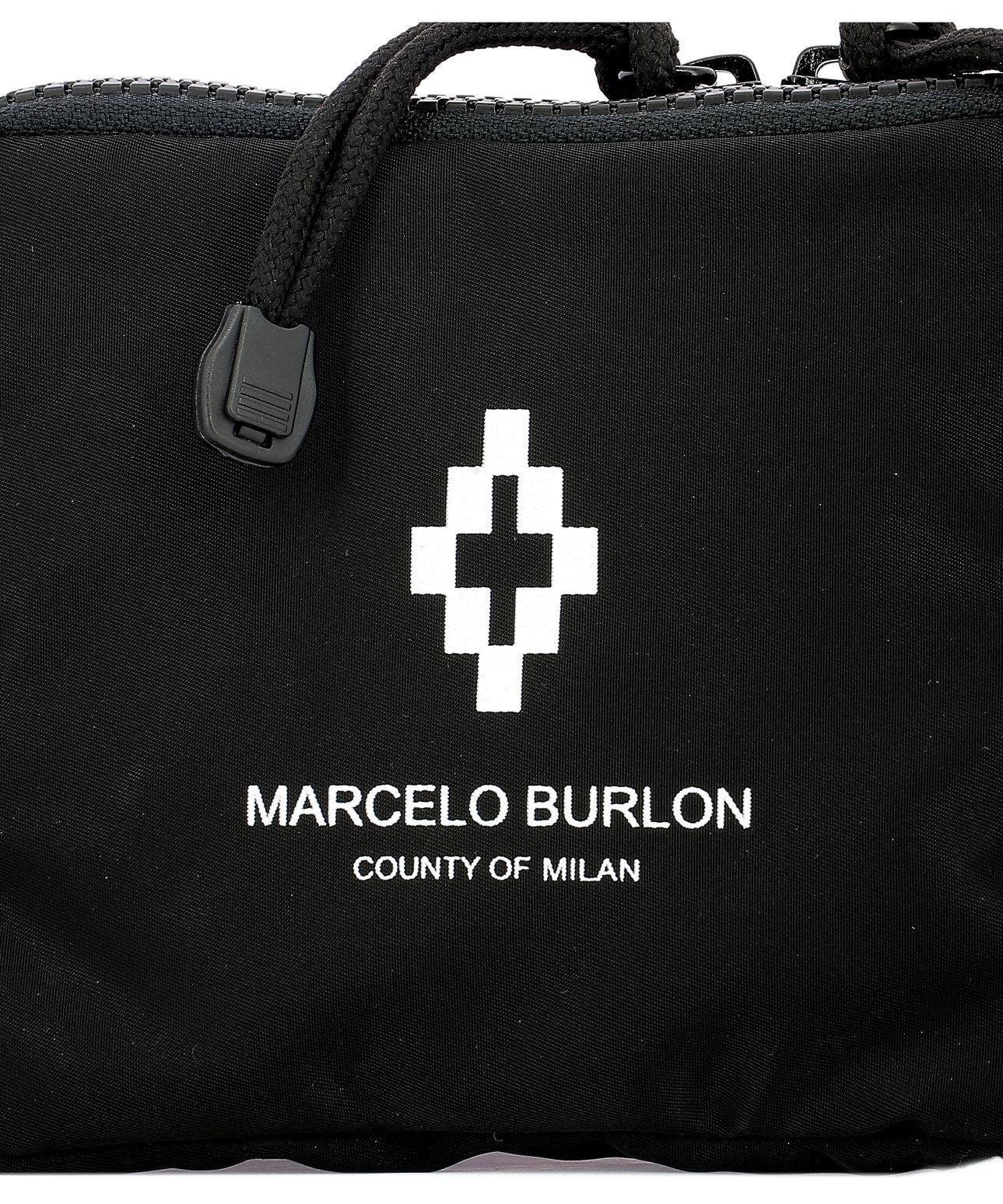 MARCELO BURLON MEN'S CMNA019R198531290810 BLACK POLYESTER TRAVEL BAG