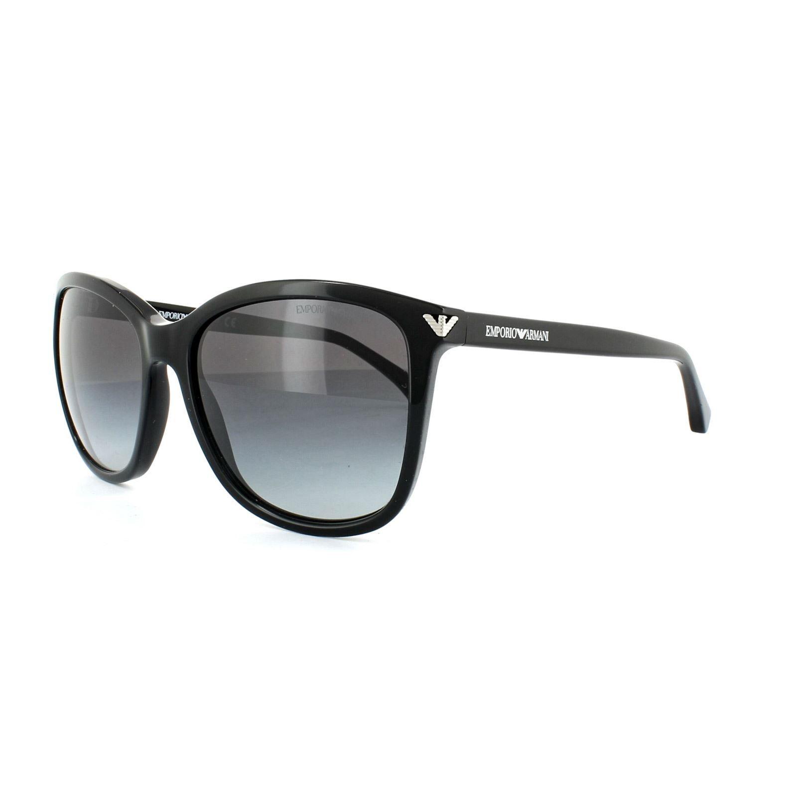 Emporio Armani Sunglasses 4060 5017/8G Black Grey Gradient