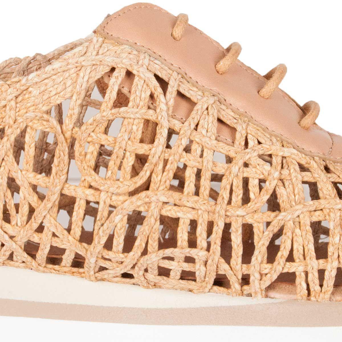 Purapiel Woven Sneaker in Camel