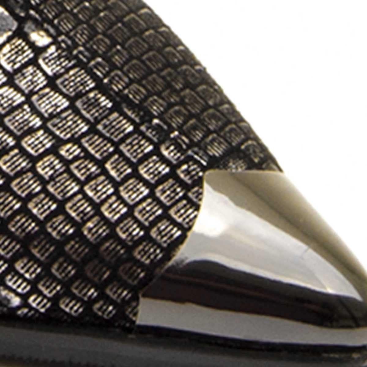 Montevita Western Ankle Boot in Black Snake Print